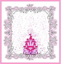 Invitation card with magic fairy tale princess vector