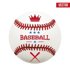 Baseball leather ball vector