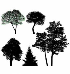 Trees set vector