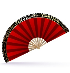 Red-golden fan vector