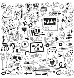 Medicine doodles vector