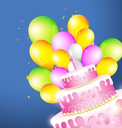 Beautiful of birthday card vector