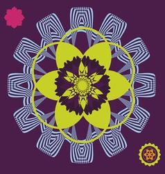 Spring meditation floral poster vector