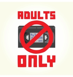 Adults only vhs cassette vector