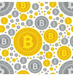 Bitcoin coins seamless pattern vector