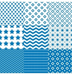 Circle square star patterns vector