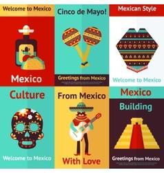 Mexico retro poster vector