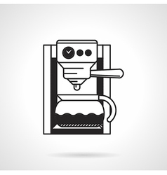 Coffee machine black icon vector