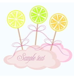 Lollipop greeting card vector