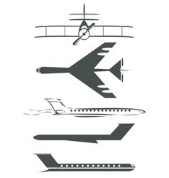 Airplane symbols vector