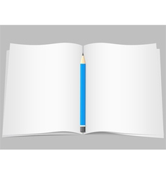 Pages with pencil vector
