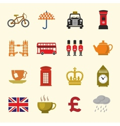 Uk icon set vector