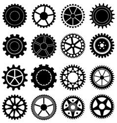 Settings gear icons set vector