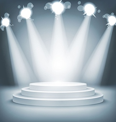 Illuminated stage podium award ceremony vector