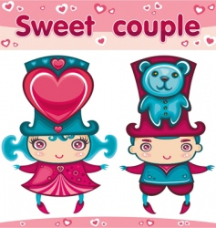 Sweet couple vector