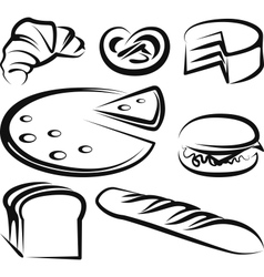 With a set of baking items vector