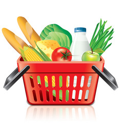 Object shopping basket products vector