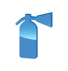 Fire extinguisher blue 3d icon vector