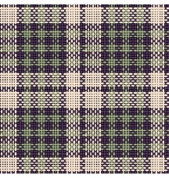 Seamless texture of rough cotton fabric with plaid vector