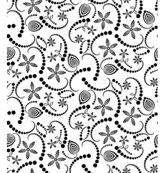 Abstract halftone flower seamless vector