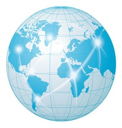 Network communication world vector
