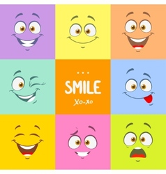 Smile set vector