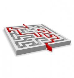 Path across labyrinth vector
