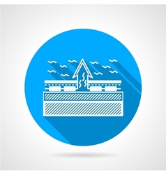 Under floor heating flat icon vector