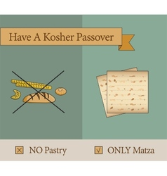 Have a kosher passover holiday vector