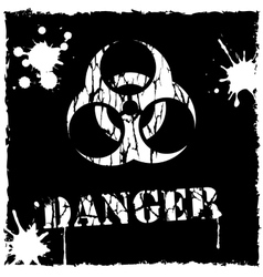 Biohazard icon black and white vector
