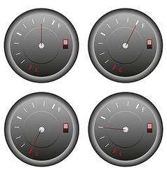 Fuel meter set vector
