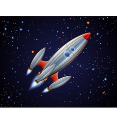 Rocket in space vector