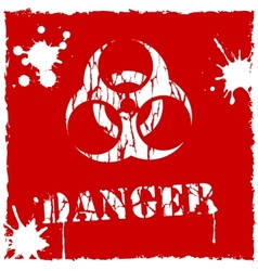 Biohazard icon red and white vector