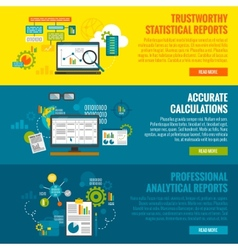Data analytics banner set vector