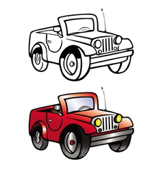 Jeep coloring book vector