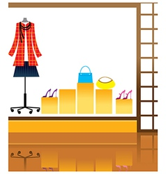 Fashion shopfront background vector