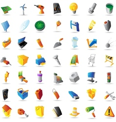 Icons for industry technology and computers vector
