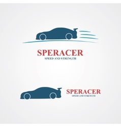 Abstract set of sport car design vector