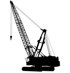 Construction crane vector
