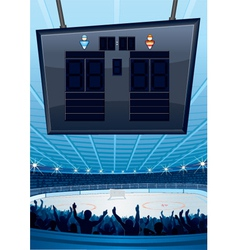Hockey sports stadiums vector