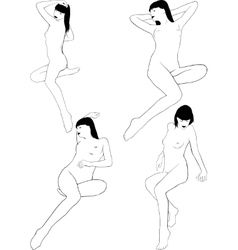 Nude girl posing vector