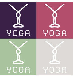Yoga monogram vector