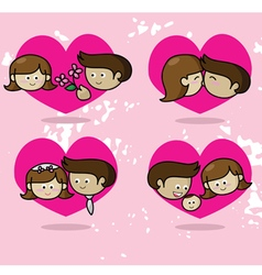 Love story couple in love vector