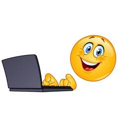 Emoticon with computer vector