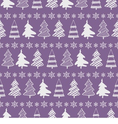 Christmas trees seamless pattern vector