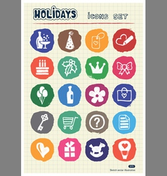 Christmas and other holidays web icons set vector