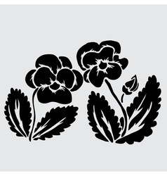 Decorative pansies vector
