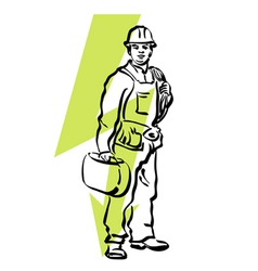 Electrician vector
