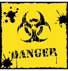 Biohazard icon yellow and black vector