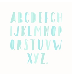 Simple hand drawn letters vector
